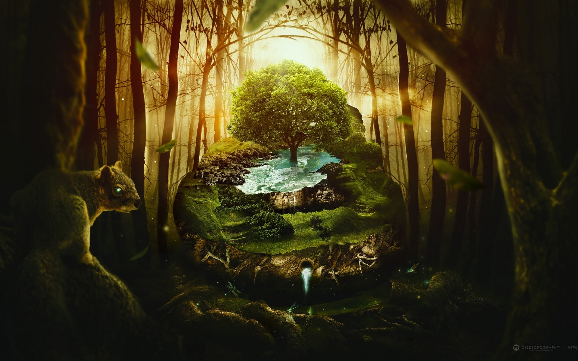 Wildlife Jungle Fantasy Background