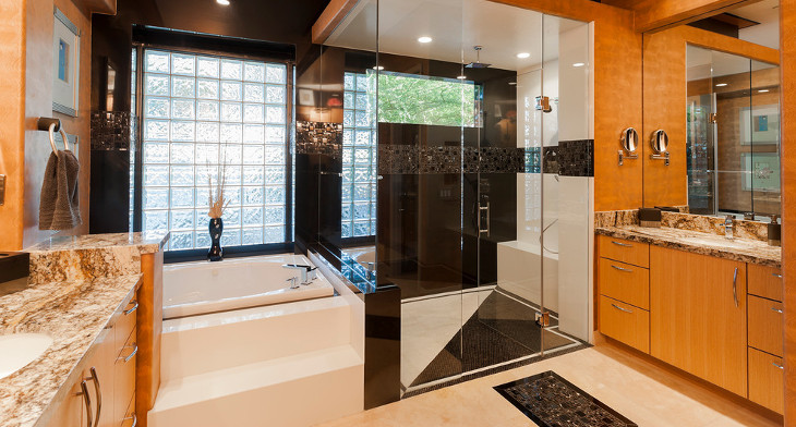 21+ Contemporary Master Bathroom Designs, Decorating Ideas | Design on