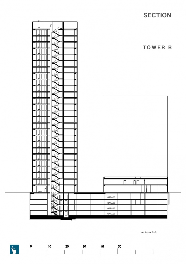 Section of Tower 'A'