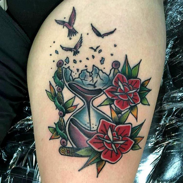 Image Result For Black And White Clock Tattoosa
