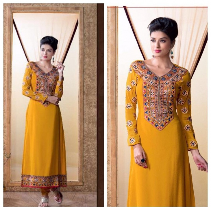 churidhar with v neck design