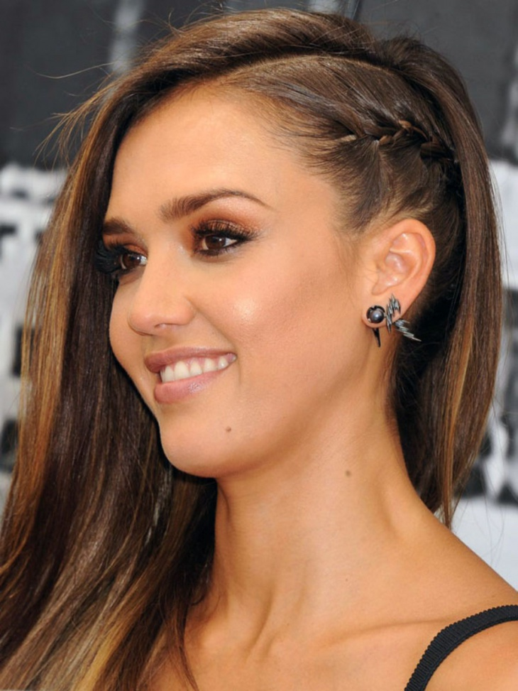 Jessica Alba Side French Braid