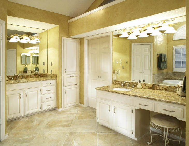 yellow granite bathroom vanity - Granite Bathroom Designs