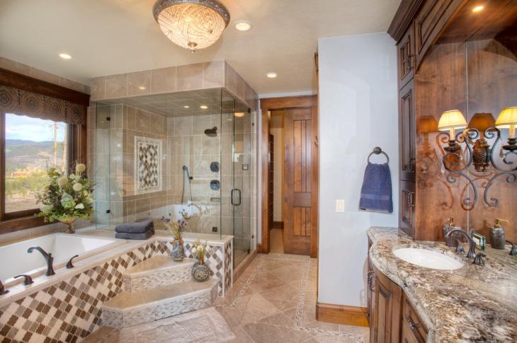 rustic granite bathroom countertop