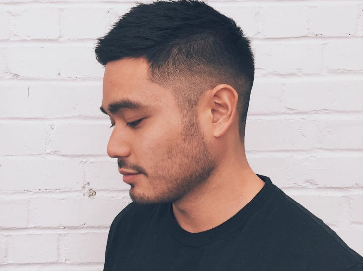 Short Side Faded Hairstyle For Men