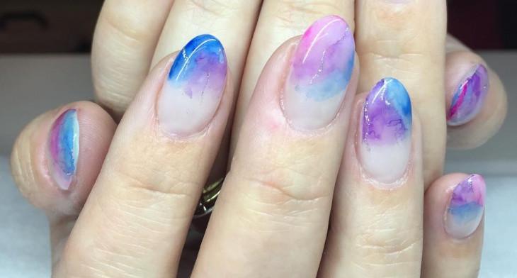 21 Watercolor Nail Art Designs Ideas Design Trends Premium Psd