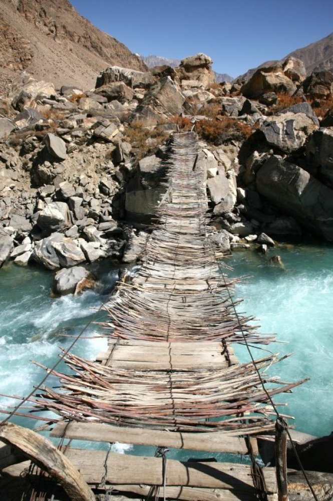Old Hanging Bridge in Afganistan
