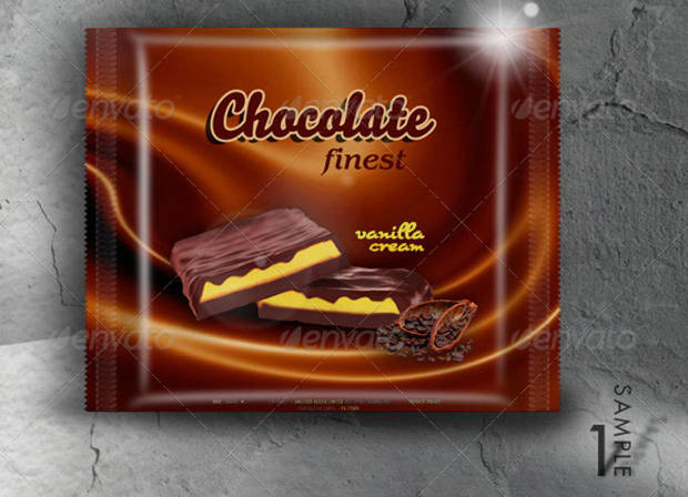 Food Chocolate Packaging Mock-Up