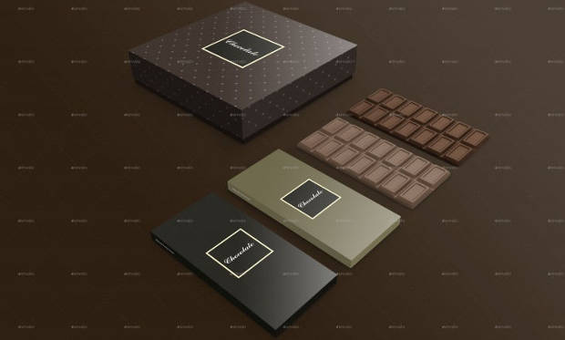 Chocolate Package Box Mockups