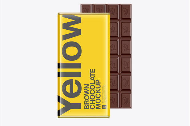 Chocolate Bar Packaging Mock-up