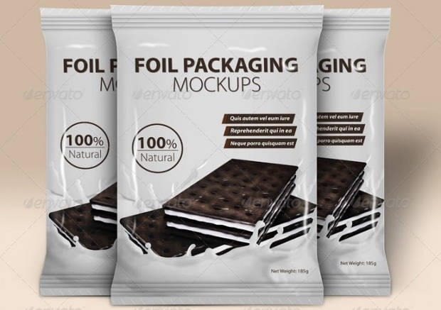 Foil Packaging Mockups