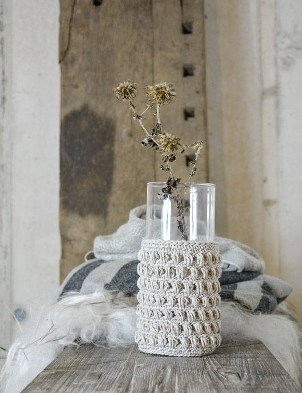 knitted glass vase2