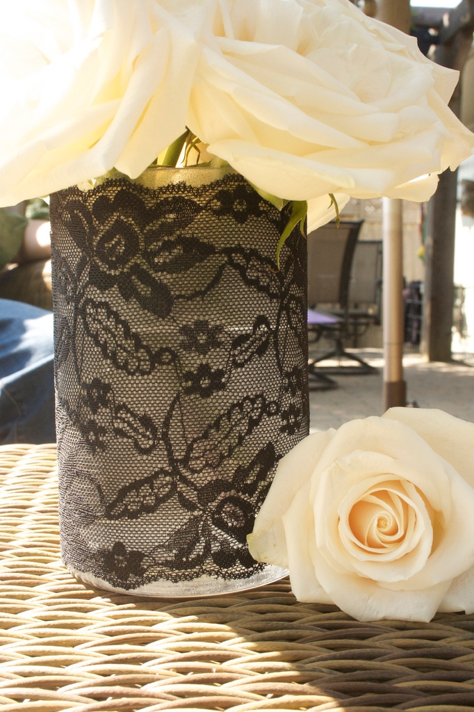 vase made of lace