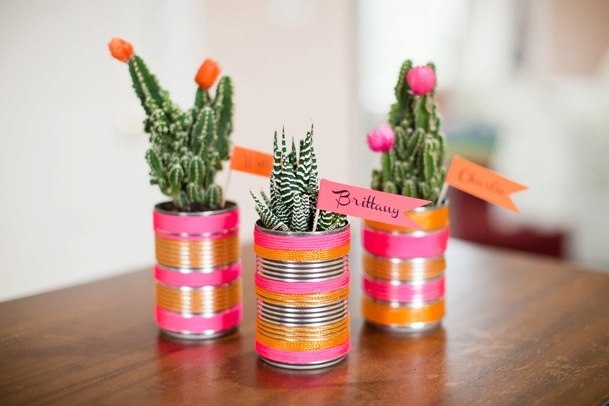 Tin Can Flower Pot