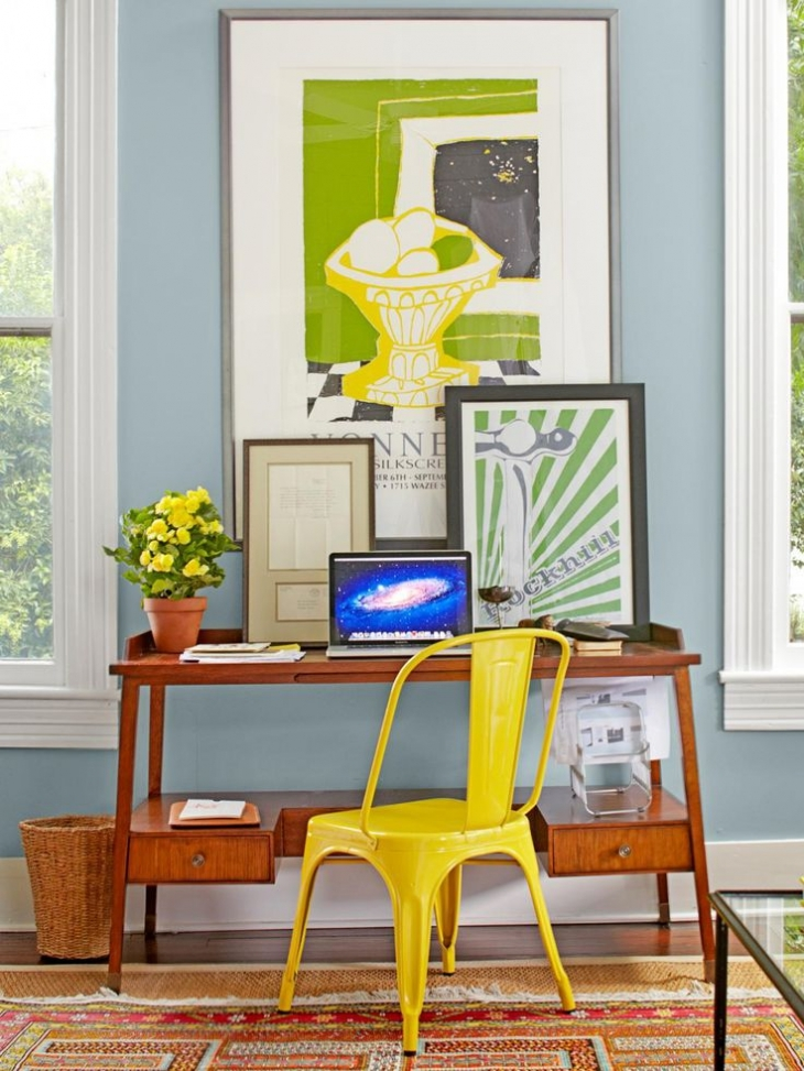 yellow chair design
