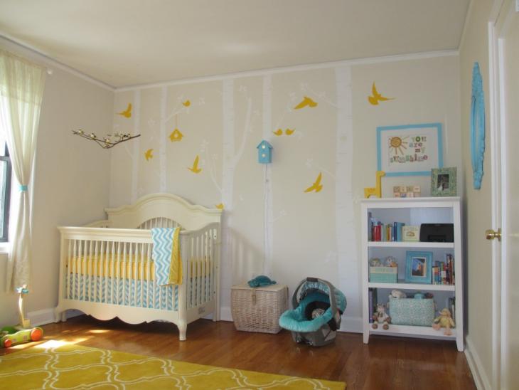 Yellow Kids Room Design