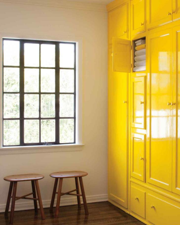 Yellow Cupboard Design