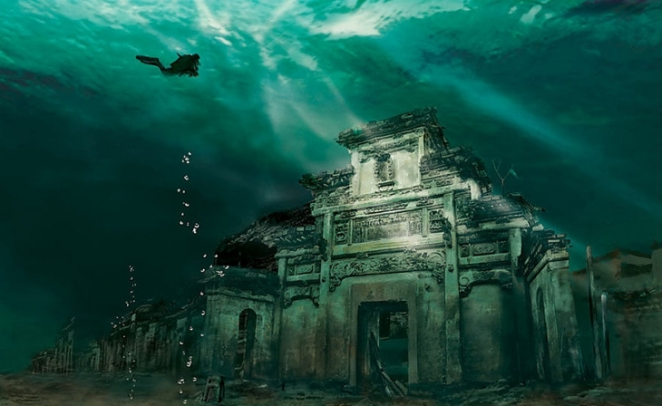 underwater city in shicheng china