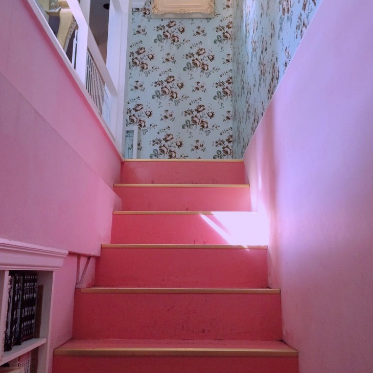 Peachy Pink Stairs