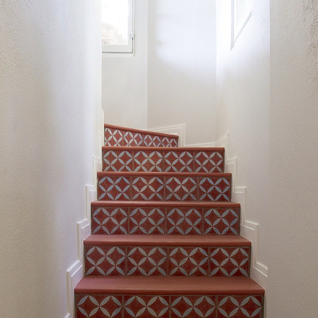 Tiles on Stairs