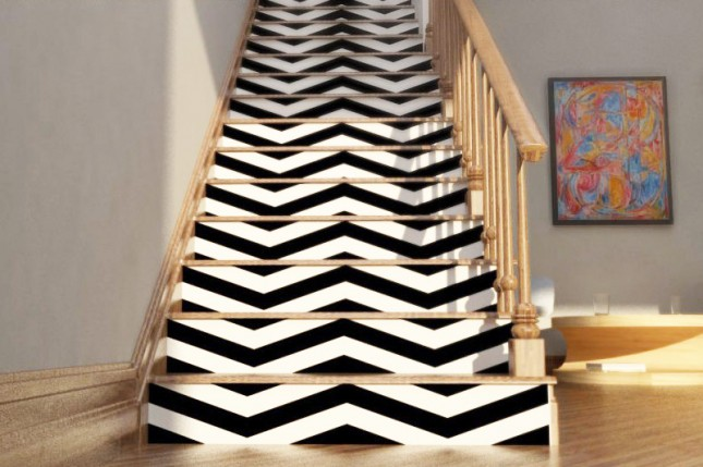 Removable Wallpaper on Stairs