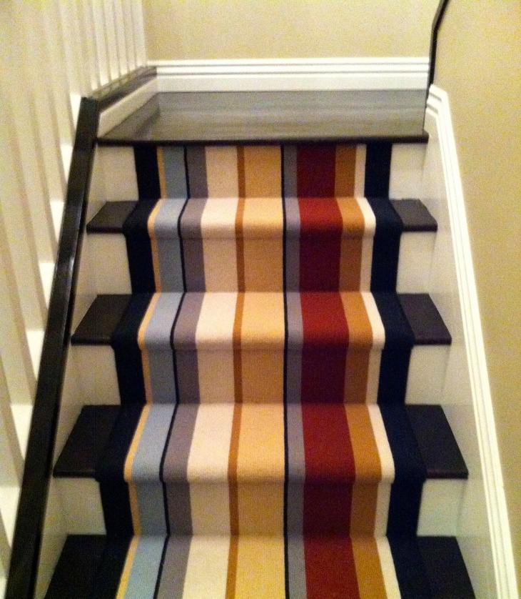 Striped Runner Stairs