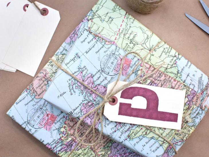 DIY Map wrap