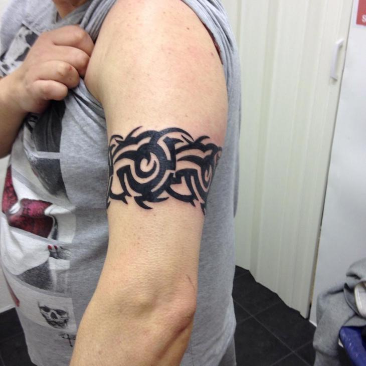 Fashionable Band Arm Tattoo
