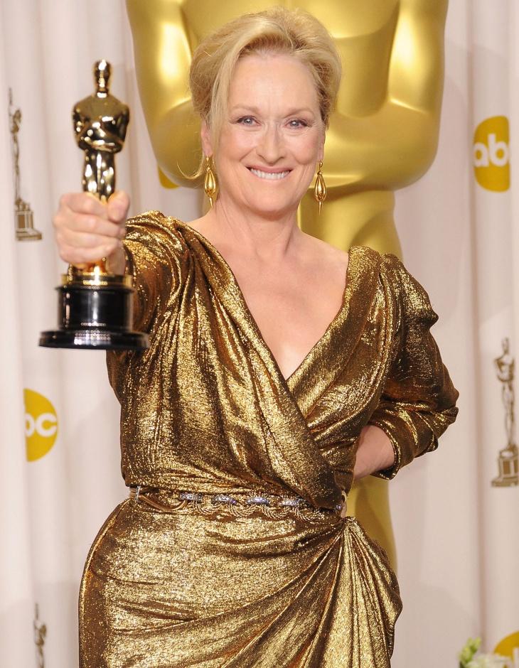 Meryl Streep with Oscar