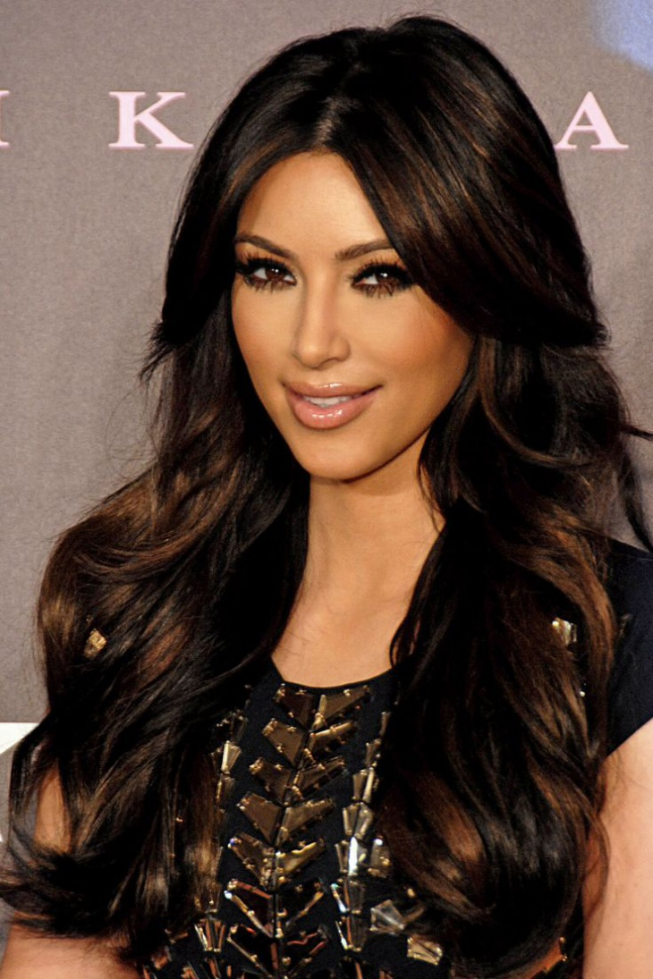 Kim Kardasian Fringe Hairstyle.