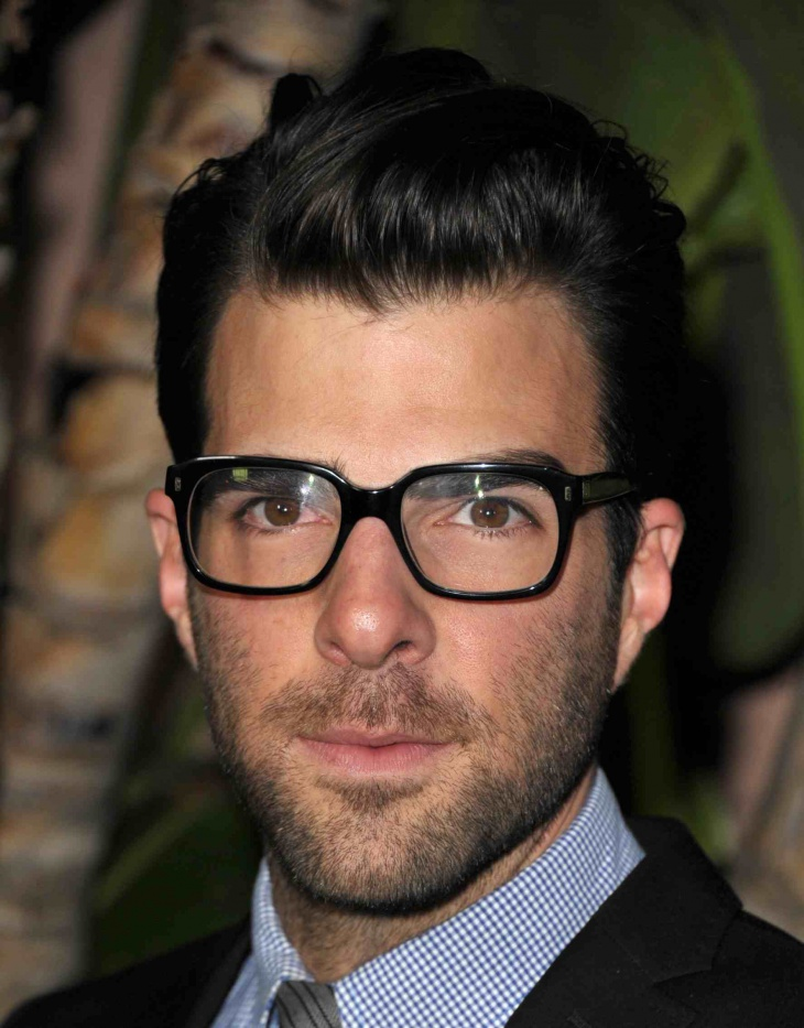 zachary quinto hipster haircut