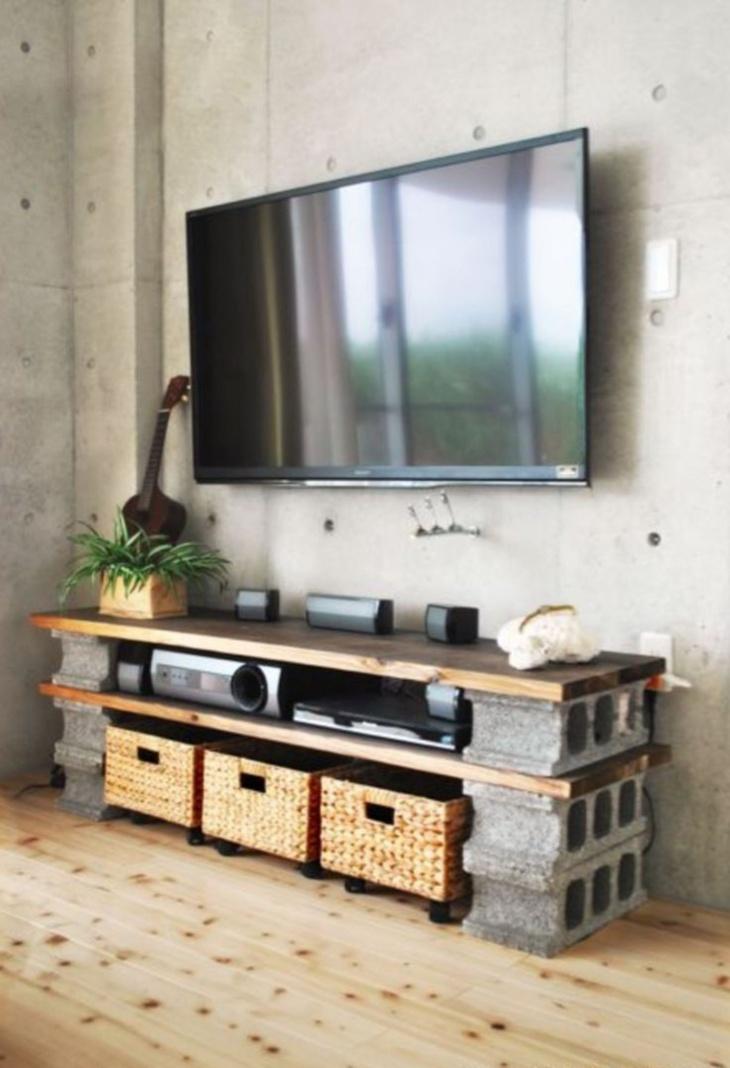 Cinderblock TV Stand