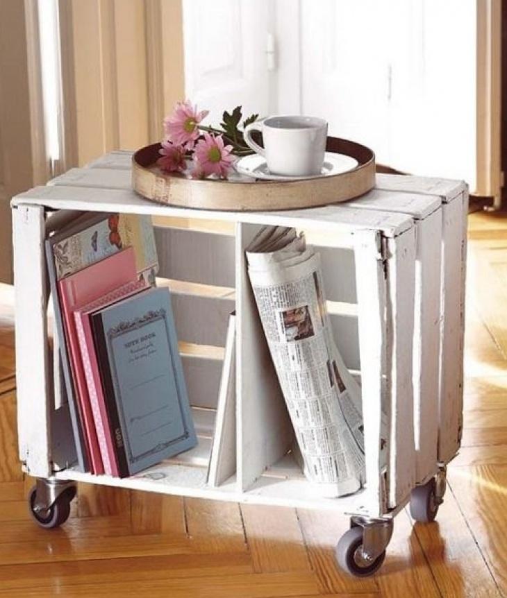 milk crates table