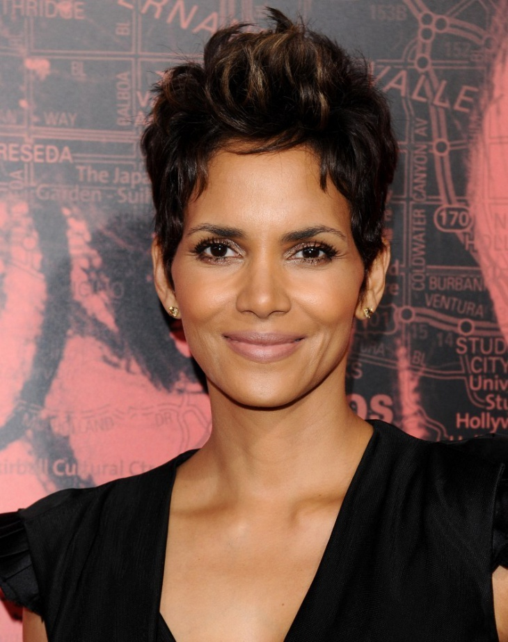 Halle Berry Edgy Pixie Hair