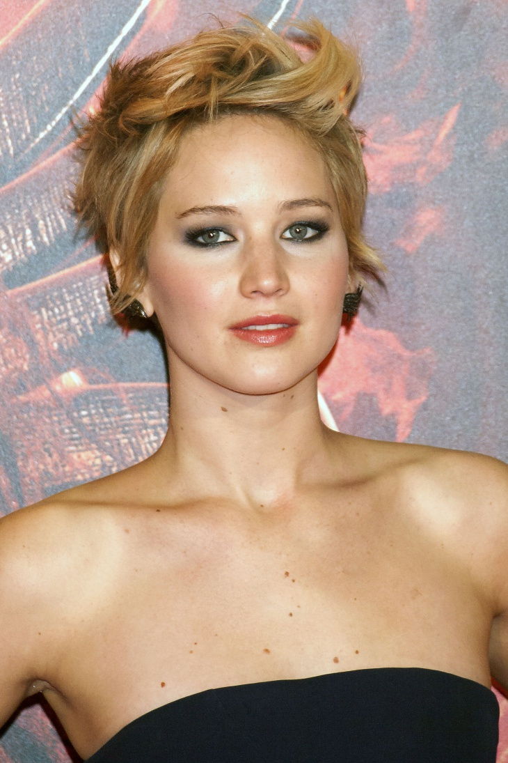 Jennifer Lawrence Short Edgy Hair