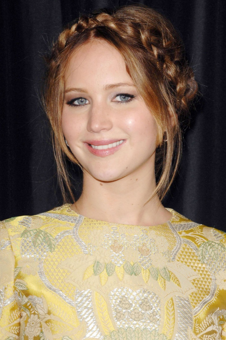 Jennifer Lawrence With Bohemian Hairstyle