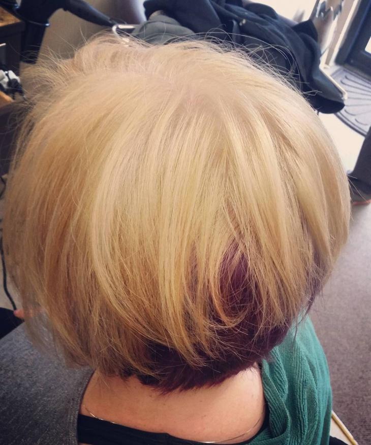 Blonde Edgy Bob Haircut