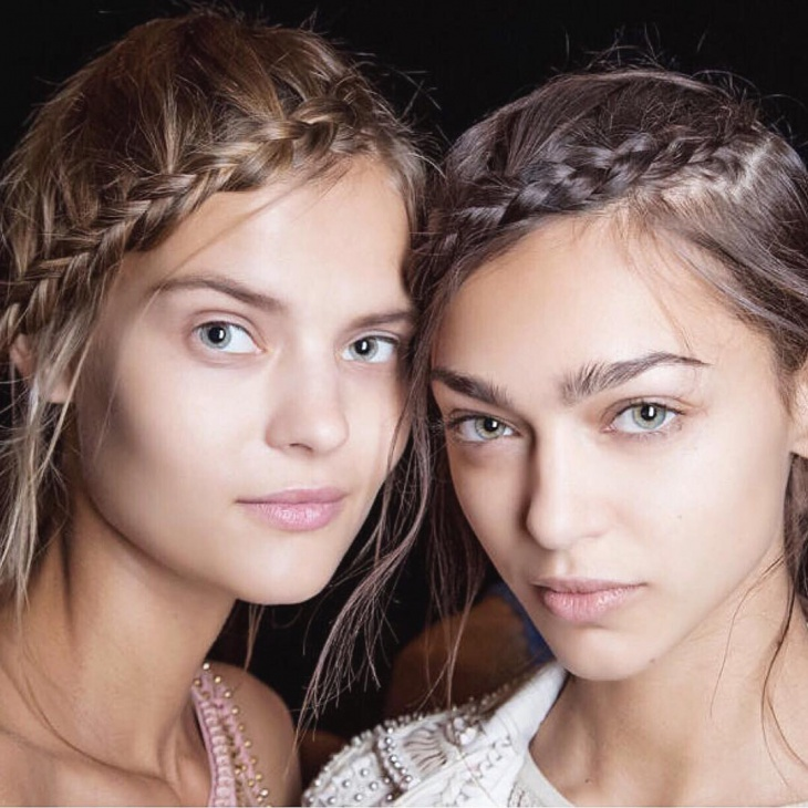 Side Twisted Bohemian Hairstyle