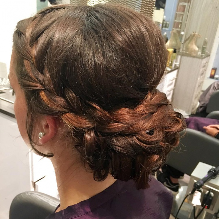 Bohemian Side Twisted Hairstyle for Thick Hair