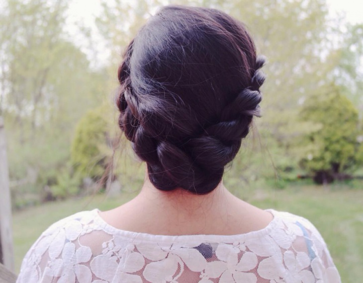 bohemian crown braid hairstyle