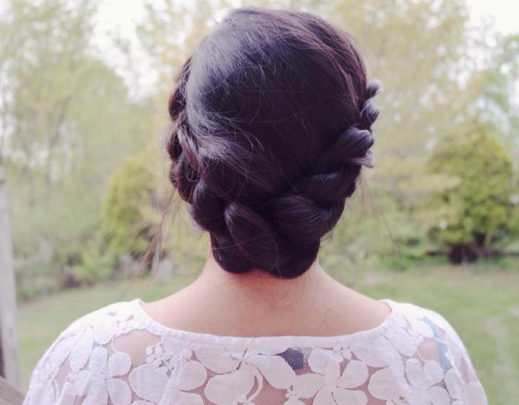 Bohemian Crown Braid Hairstyle