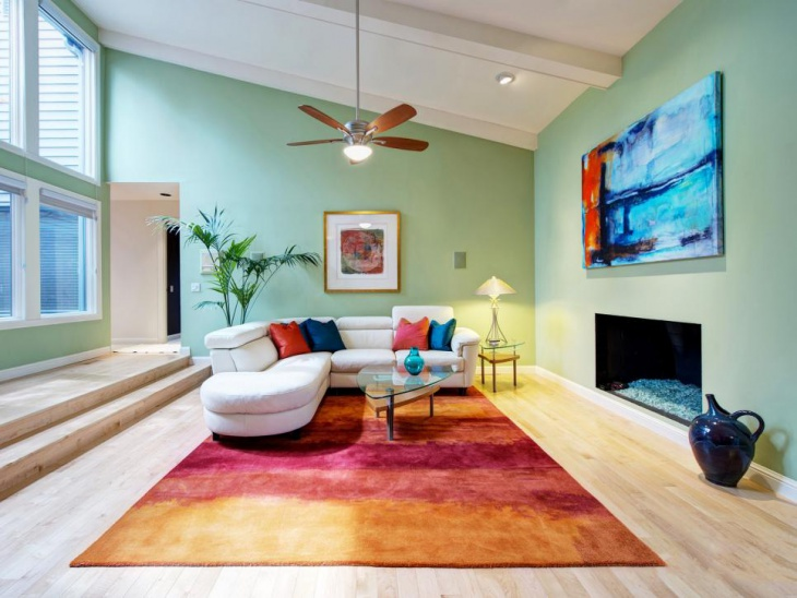 Colorful Living Room Decorating Idea