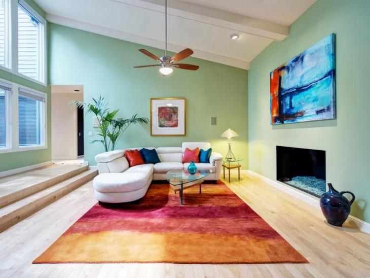 colorful living room decorating idea