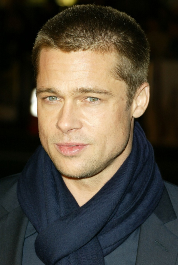 brad pitt buzz hair cut