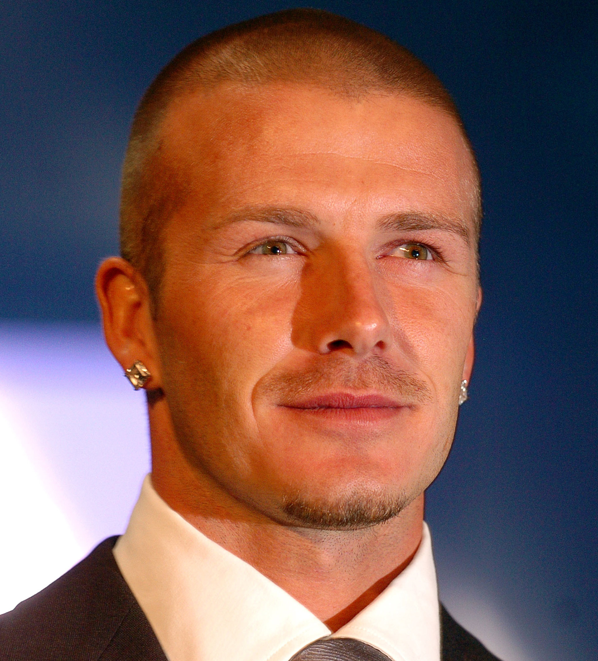 david beckham buzz hair cut
