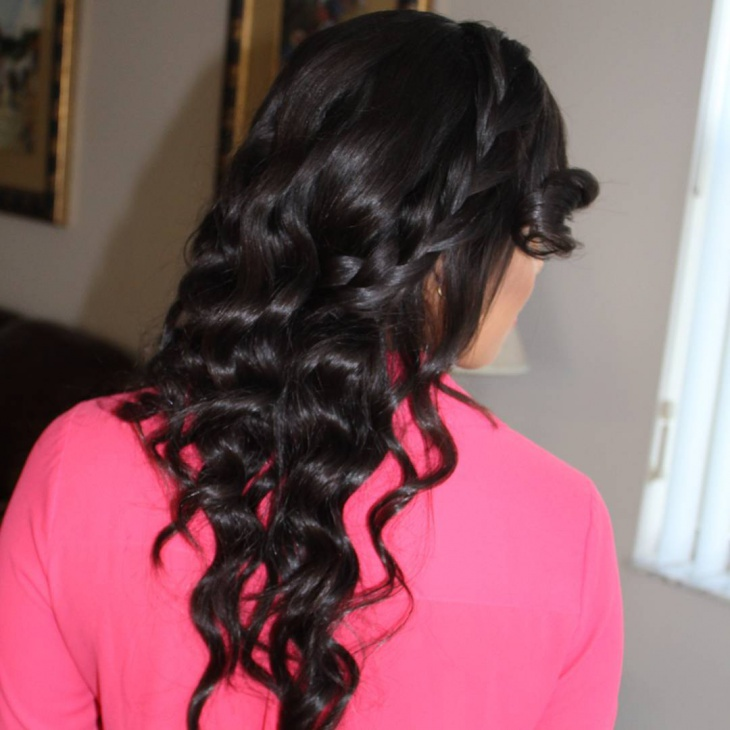 Bohemian Hairstyle for Curly Hair