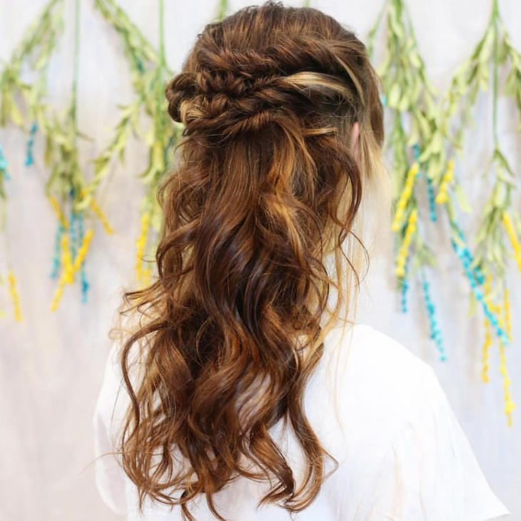 bohemian hairstyle for medium length hair