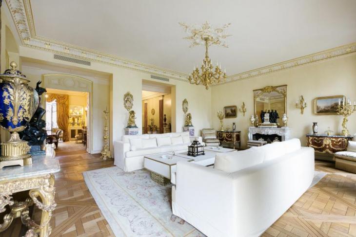 luxurious retro living room lighting