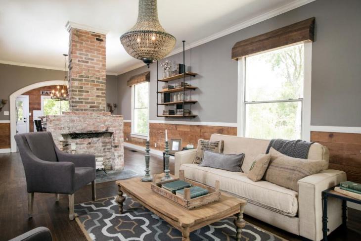 Rustic Chic Living Room Idea
