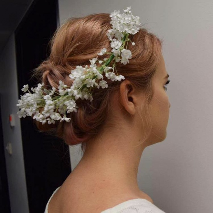bohemian wedding hair updo